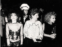 Montreal (Qc) Canada  file Photo - 1985,Jo Bocan, Lise Bacon, Martine Saint-Clair