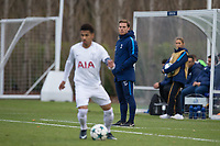 Spurs Coach Scott Parker watches Marcus Edwards of Spurs U19 during the UEFA Youth League match between Tottenham Hotspur U19 and Apoel Nicosia (APOEL) at Tottenham Hotspur Training Ground, Hotspur Way, England on 6 December 2017. Photo by Andy Rowland.