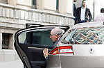 Madrid,Spain - 16 10 2014- &quot;politics&quot;- scandal black cards Caja Madrid- Rodrigo Rato, former president of Bankia and <br /> International Monetary Fund arrives to testify at the national audience by reference to the scandal of the black cards(foto Guillermo Martinez/Bouza press)