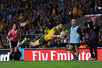 Adam Ashley-Cooper of Australia scores his second try during the Semi Final of the Rugby World Cup 2015 between Argentina and Australia - 25/10/2015 - Twickenham Stadium, London<br /> Mandatory Credit: Rob Munro/Stewart Communications