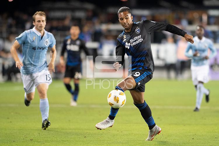 San Jose, CA - Thursday December 31, 2015: Danny Hoesen during a Major League Soccer (MLS) match between the San Jose Earthquakes and Sporting Kansas City at Avaya Stadium.