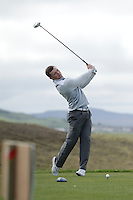 Daniel Brennan (Shannon) during round 1 of The West of Ireland Amateur Open in Co. Sligo Golf Club on Friday 18th April 2014.<br /> Picture:  Thos Caffrey / www.golffile.ie