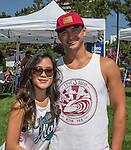 Christine and Matthew from the Bay Area at the Aloha Festival in Reno on Saturday, August 27, 2016.