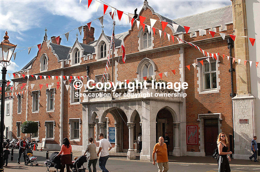 Since 1728 the Convent, in main street, has been the official residence of the Governor in Gibraltar. Ref: 200211041208...Copyright Image from Victor Patterson, 54 Dorchester Park, Belfast, UK, BT9 6RJ..Tel: +44 28 9066 1296.Mob: +44 7802 353836.Voicemail +44 20 8816 7153.Skype: victorpattersonbelfast.Email: victorpatterson@mac.com.Email: victorpatterson@ireland.com (back-up)..IMPORTANT: If you wish to use this image or any other of my images please go to www.victorpatterson.com and click on the Terms & Conditions. Then contact me by email or phone with the reference number(s) of the image(s) concerned.
