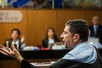 Giosue' Naso avvocato di Massimo Carminati, parla durante l'udienza di apertura del processo su Mafia Capitale, al Tribunale di Roma, 5 novembre 2015.<br /> Massimo Carminati's lawyer Giosue' Naso speaks during the opening audience of the trial on Mafia Capitale, at Rome's court, 5 November 2015.<br /> UPDATE IMAGES PRESS/POOL - AGF - Alessandro Serrano'˜