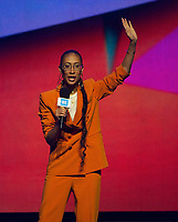 CHICAGO, IL: MAY 8: Elaine Welteroth speaks onstage during the 2019 WE DAY Illinois at the Allstate Arena on May 8, 2019 in Chicago, Illinois. <br /> CAP/MPI/ISDD<br /> ©MPIISDD/Capital Pictures