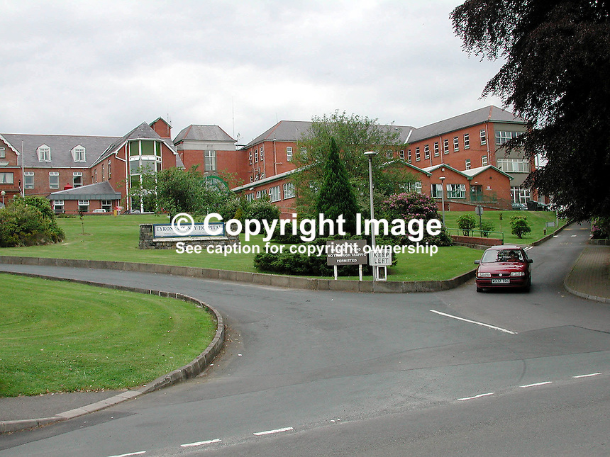 Tyrone County Hospital, Omagh, Co Tyrone, N Ireland, UK, 2000060720..Copyright Image from Victor Patterson, 54 Dorchester Park, Belfast, UK, BT9 6RJ..Tel: +44 28 9066 1296.Mob: +44 7802 353836.Voicemail +44 20 8816 7153.Skype: victorpattersonbelfast.Email: victorpatterson@mac.com.Email: victorpatterson@ireland.com (back-up)..IMPORTANT: If you wish to use this image or any other of my images please go to www.victorpatterson.com and click on the Terms & Conditions. Then contact me by email or phone with the reference number(s) of the image(s) concerned.