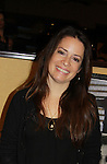 Charmed Holly Marie Combs at Chiller Theatre's Spring Spooktacular on the weekend of April 27-29 at the Hilton Parsippany in Parsippany, New Jersey. (Photo by Sue Coflin/Max Photos)