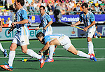 The Hague, Netherlands, June 13: Gonzalo Peillat #2 of Argentina scores a penalty corner (5-1) during the second half during the field hockey semi-final match (Men) between Australia and Argentina on June 13, 2014 during the World Cup 2014 at Kyocera Stadium in The Hague, Netherlands. Final score 5-1 (3-0)  (Photo by Dirk Markgraf / www.265-images.com) *** Local caption ***