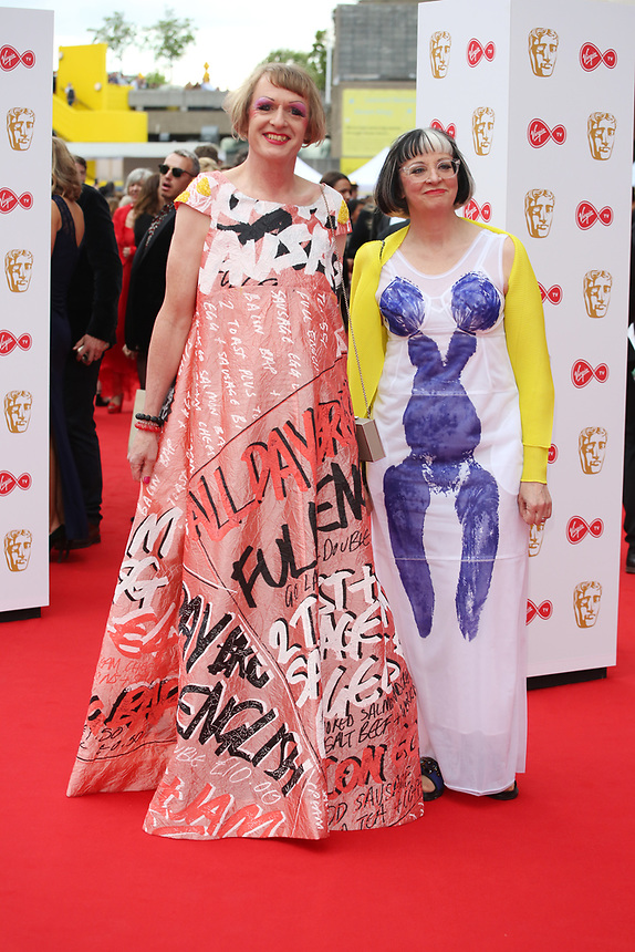 Grayson & Philippa Perry <br />  arriving at the Bafta Tv awards 2017. Royal Festival Hall,London  <br /> ©Ash Knotek