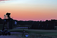 The sun sets over the first hole after the third round of the 118th U.S. Open Championship at Shinnecock Hills Golf Club in Southampton, NY, USA. 16th June 2018.<br /> Picture: Golffile | Brian Spurlock<br /> <br /> <br /> All photo usage must carry mandatory copyright credit (&copy; Golffile | Brian Spurlock)