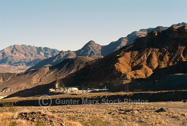 Death Valley National Park, California, CA, USA - 'Billie Mine', a now-closed Underground Borax Mine, near Dante's View