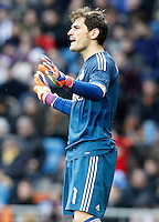 Real Madrid's Iker Casillas during La Liga match.January 31,2015. (ALTERPHOTOS/Acero) /NortePhoto<br />