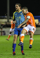 Blackpool's Jay Spearing shoots at goal <br /> <br /> Photographer Andrew Kearns/CameraSport<br /> <br /> The Emirates FA Cup Second Round - Solihull Moors v Blackpool - Friday 30th November 2018 - Damson Park - Solihull<br />  <br /> World Copyright © 2018 CameraSport. All rights reserved. 43 Linden Ave. Countesthorpe. Leicester. England. LE8 5PG - Tel: +44 (0) 116 277 4147 - admin@camerasport.com - www.camerasport.com