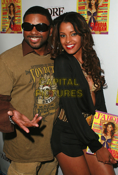 CLAUDIA JORDAN & CARL PAYNE.At Claudia Jordan's Birthday Party held at Skateland, Northridge, California, USA, 12 April 2007..half length.CAP/ADM/CH.©Charles Harris/AdMedia/Capital Pictures.