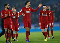 Virgil van Dijk of Liverpool fools around with Andrew Robertson after the Premier League match against Leicester City at the King Power Stadium, Leicester. Picture date: 26th December 2019. Picture credit should read: Darren Staples/Sportimage PUBLICATIONxNOTxINxUK SPI-0397-0042<br /> Leicester Vs Liverpool <br /> Foto Imago/Insidefoto <br /> ITALY ONLY
