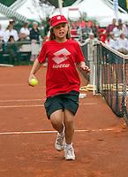 06-06-10, Tennis, Den Haag, Playoffs Eredivisie, Ballenmeisje