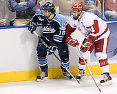 Josh Soares, Jake Dowell - The University of Wisconsin Badgers defeated the University of Maine Black Bears 5-2 in their 2006 Frozen Four Semi-Final meeting on Thursday, April 6, 2006, at the Bradley Center in Milwaukee, Wisconsin.  Wisconsin would go on to win the Title on April 8, 2006.