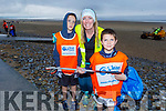 Oisin, Trisha and Colm Fletcher taking part in the Banna Beach Clean up of rubbish on Saturday