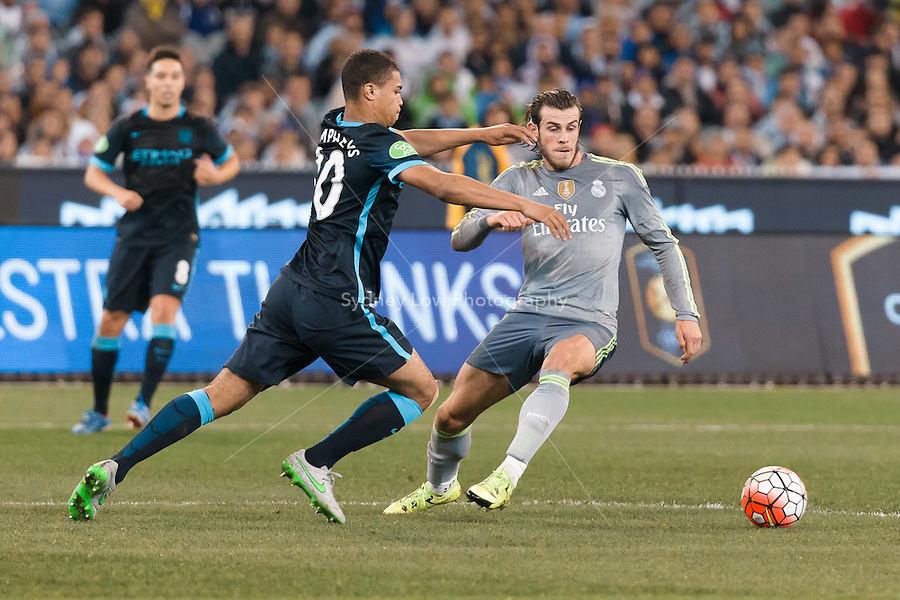 Melbourne, 24 July 2015 - Gareth Bale of Real Madrid controls the ball in game three of the International Champions Cup match between Manchester City and Real Madrid at the Melbourne Cricket Ground, Australia. Real Madrid def City 4-1. (Photo Sydney Low / AsteriskImages.com)