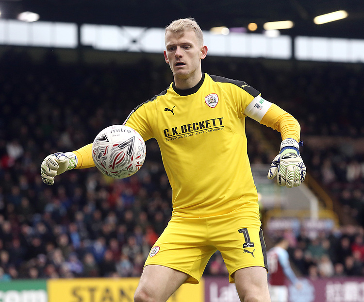 Barnsley's Adam Davies<br /> <br /> Photographer Rich Linley/CameraSport<br /> <br /> Emirates FA Cup Third Round - Burnley v Barnsley - Saturday 5th January 2019 - Turf Moor - Burnley<br />  <br /> World Copyright © 2019 CameraSport. All rights reserved. 43 Linden Ave. Countesthorpe. Leicester. England. LE8 5PG - Tel: +44 (0) 116 277 4147 - admin@camerasport.com - www.camerasport.com