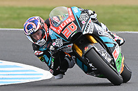 October 27, 2018: Fabio Quartararo (FRA) on the No.20 SPEED UP from Speed Up Racing during the Moto2 practice session three at the 2018 MotoGP of Australia at Phillip Island Grand Prix Circuit, Victoria, Australia. Photo Sydney Low