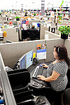 "AFLAC call center employee Carolin Lawton answers a call from a customer at a campus in Columbus, Georgia October 21, 2010. The center has changed the recorded voice to one that is more appealing to customers...""CREDIT: Kendrick Brinson/LUCEO The Wall Street Journal"".Voice"