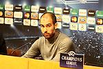 Camp Nou , UEFA Champions League, rueda de prensa previa al partido FC Barcelona - ARsenal FC. En la foto Pep Guardiola