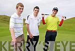 Kerry Boys Co Championship at Ballybunnion Golf Club on Friday 16 July .Adam Leahy Tralee, Jamie O'Connor Abbeyfeale, Brody Gallagher Killarney.