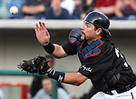 Reno Aces' catcher Konrad Schmidt catches a pop fly bunt attempt in the third inning of Friday's game, July 15, 2011, in Reno, Nev. The Aces defeated the Colorado Springs Sky Sox 6-3..Photo by Cathleen Allison