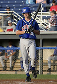 July 16, 2004:  Outfielder Adam Lind of the Auburn Doubledays, Short-Season Single-A affiliate of the Toronto Blue Jays, during a game at Dwyer Stadium in Batavia, NY.  Photo by:  Mike Janes/Four Seam Images