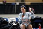 25 MAR 2016:  Columbia's Mason Speta relaxes before her semi final match in the women's epee event at the Division I Women's Fencing Championship held at the Gosman Sports and Convention Center in Waltham, MA.   Damian Strohmeyer/NCAA Photos