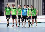 2015-10-24 / Volleybal / Seizoen 2015-2016 / Vosselaar - Mendo Booischot / svbo / De spelers van Mendo staan klaar om het veld te betreden na een time-out<br /><br />Foto: Mpics.be