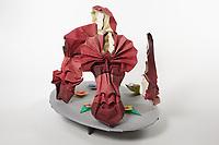 OrigamiUSA 2017 Holiday Tree at the American Museum of Natural History. Base 8 models:<br /> Masks: Designer - Beata Kupczak, Folder &ndash; Beata Kupczak