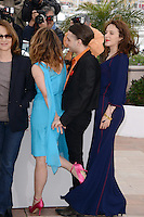 "Nathalie Baye,Suzanne Clement, Xavier Dolan and Monia Chokri attending the ""Laurence Anyways"" Photocall during the 65th annual International Cannes Film Festival in Cannes, France, 19th May 2012...Credit: Timm/face to face /MediaPunch Inc. ***FOR USA ONLY***"
