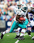 29 November 2009: Miami Dolphins' running back Ricky Williams in action against the Buffalo Bills at Ralph Wilson Stadium in Orchard Park, New York. The Bills defeated the Dolphins 31-14. Mandatory Credit: Ed Wolfstein Photo