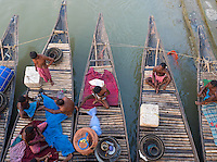 Princep Ghat, Kolkata, West Bengal (India) fishing boats