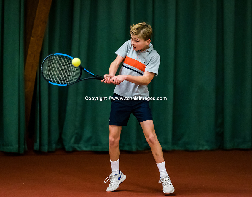 Wateringen, The Netherlands, November 27 2019, De Rhijenhof , NOJK 12 and16 years, Maurits Tukker (NED)<br /> Photo: www.tennisimages.com/Henk Koster