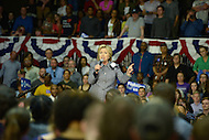 "Charlotte, NC - March 14, 2016: Former U.S. Secretary of State and 2016 Democrat presidential candidate Hillary Clinton speaks to supporters during a campaign event at the Grady Cole Center in Charlotte, North Carolina, March 14, 2016, one day before 'Super Tuesday"" voting.  (Photo by Don Baxter/Media Images International)"
