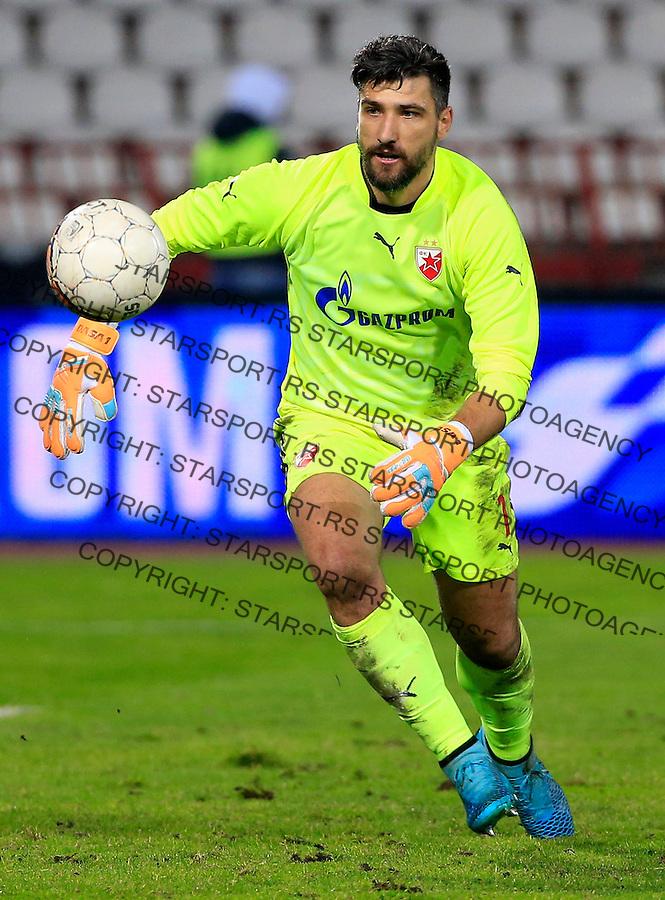 Fudbal Kup Srbije season 2015-2016<br /> Crvena Zvezda v Borac Cacak<br /> goalkeeper Damir Kahriman<br /> Beograd, 12.02.2015.<br /> foto: Srdjan Stevanovic/Starsportphoto&copy;