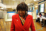 Carol Moseley Braun Votes in Chicago Mayor's Race 2011 (USA)