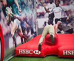 Guest attend the HSBC village ahead the Cathay Pacific / HSBC Hong Kong Sevens at the HSBC Sevens Village on 26 March 2015 in Hong Kong, China. Photo by Moses Ng  / Power Sport Images