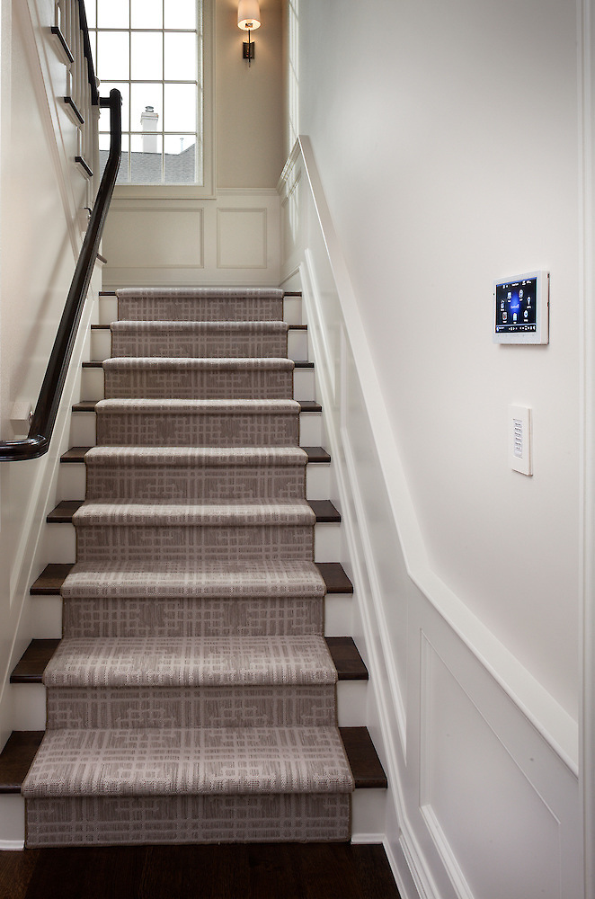 Staircase with Control4 Touch Panel