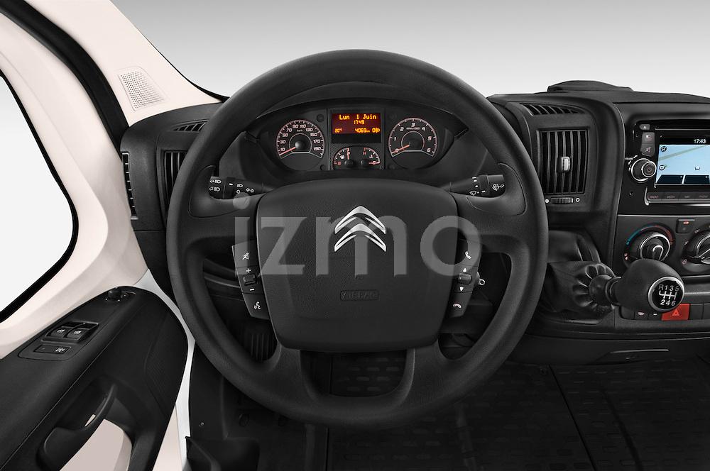 Car pictures of steering wheel view of a 2015 Citroen Jumper L1H1 Club 3 Door Cargo Van Steering Wheel