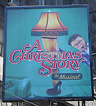 'A Christmas Story The Musical' Theatre Marquee unveiled at the Lunt-Fontanne Theatre in New York, NY on September 14, 2012