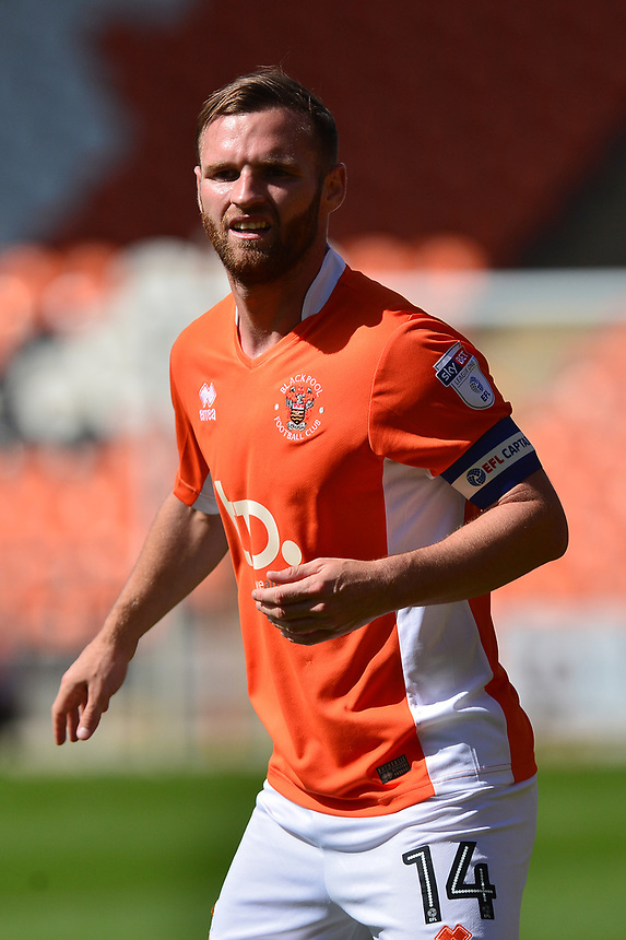 Blackpool's Jimmy Ryan in action<br /> <br /> Photographer Richard Martin-Roberts/CameraSport<br /> <br /> The EFL Sky Bet League One - Blackpool v Milton Keynes Dons - Saturday August 12th 2017 - Bloomfield Road - Blackpool<br /> <br /> World Copyright &copy; 2017 CameraSport. All rights reserved. 43 Linden Ave. Countesthorpe. Leicester. England. LE8 5PG - Tel: +44 (0) 116 277 4147 - admin@camerasport.com - www.camerasport.com