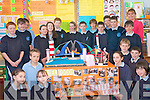 Pupils at O'Brennan school in Kielduff showcasing their year's science work at  a special science exhibition in the school last week. .Pictured Fifth and Sixth class students  Eoin Hennessy, Paudie O'Connor, Nicole Broderick, Jordan Bowler, Eoin Edwards, Jack O'Shea, Clodagh Carey, Eoin Lyons, Courtney Hurley, Miche?al Godley, Fionn Van Der Noll, Shane Godley, and Jason O'Meara with their teacher Andrea Brosnan with their experiments and projects. .