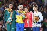 (L-R) Teixeira Araujo Silva (BRA), Inna Cherniak (UKR), Junko Hirose (JPN), Hana Seo (KOR), <br /> SEPTEMBER 9, 2016 - Judo : <br /> Women's -57kg Contests for Medal Ceremony <br /> at Carioca Arena 3<br /> during the Rio 2016 Paralympic Games in Rio de Janeiro, Brazil.<br /> (Photo by AFLO SPORT)