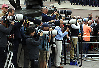 photographers<br /> The Royal Family watch RAF centenary fly-past at Buckingham Palace, The Mall, London, England on July 10, 2018.<br /> CAP/GOL<br /> &copy;GOL/Capital Pictures
