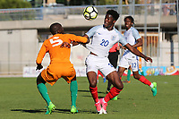 Ike Ugbo of Chelsea and England in action during England Under-18 vs Ivory Coast Under-20, Toulon Tournament Final Football at Stade de Lattre-de-Tassigny on 10th June 2017